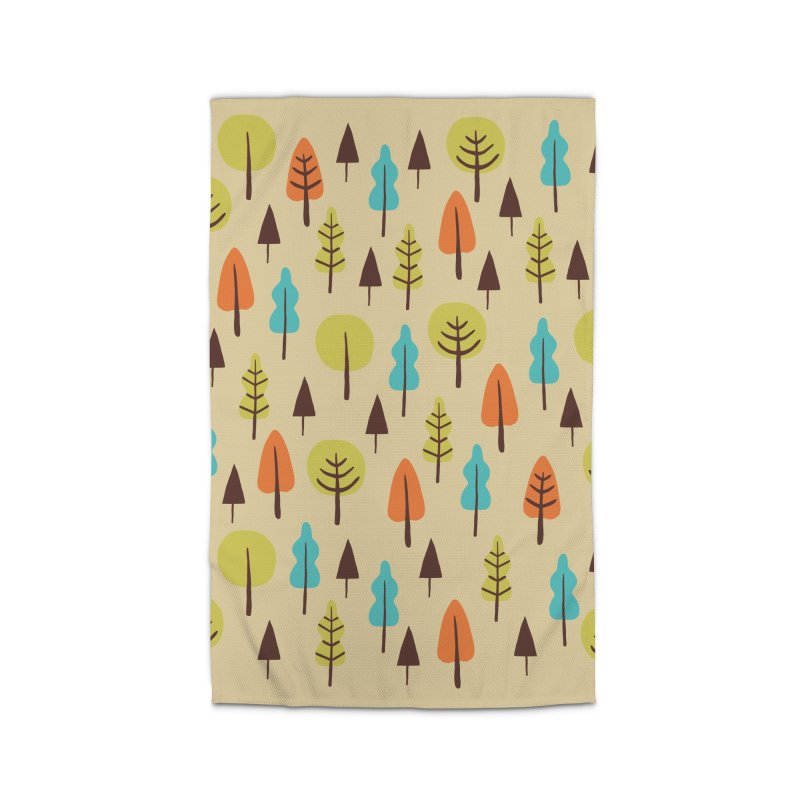 Fancy Forest - Retro Colors Home Rug by prettyprismatic's Artist Shop