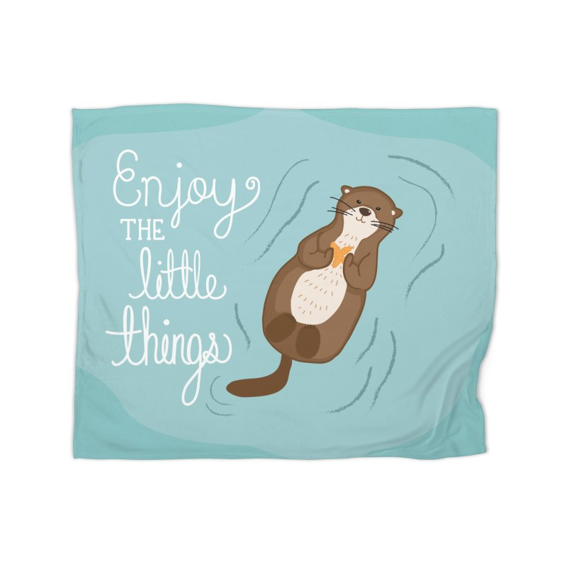 """Enjoy the little things"" Otter Print Home Blanket by prettyprismatic's Artist Shop"