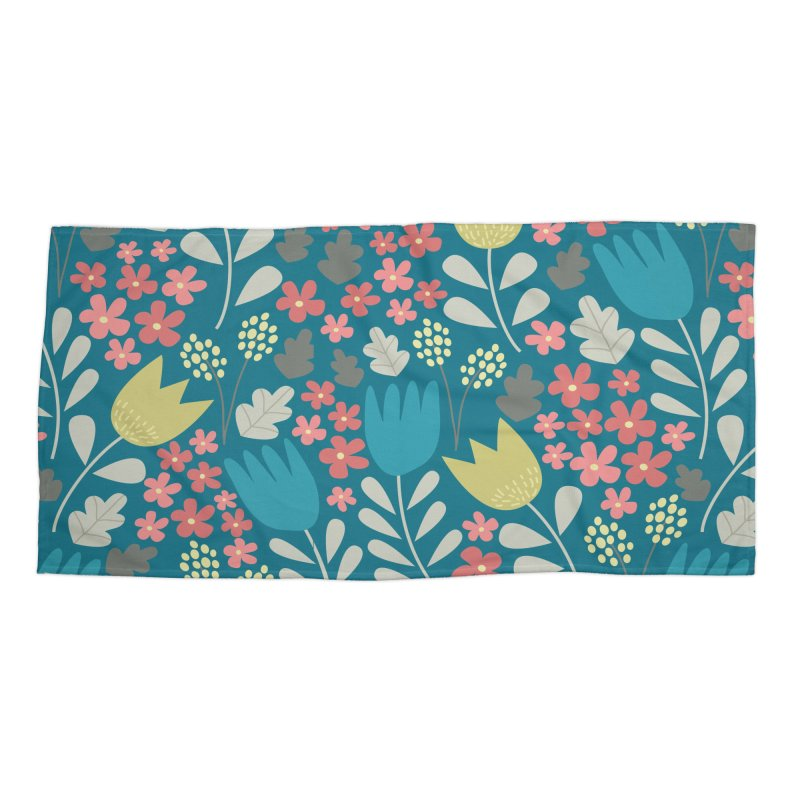 Meadow - Teal Accessories Beach Towel by prettyprismatic's Artist Shop