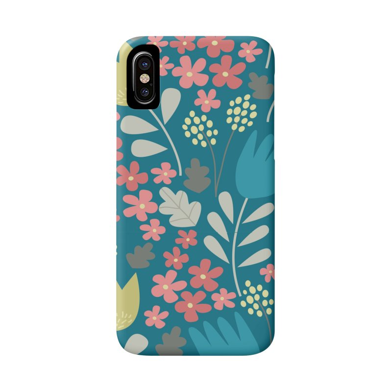 Meadow - Teal Accessories Phone Case by prettyprismatic's Artist Shop