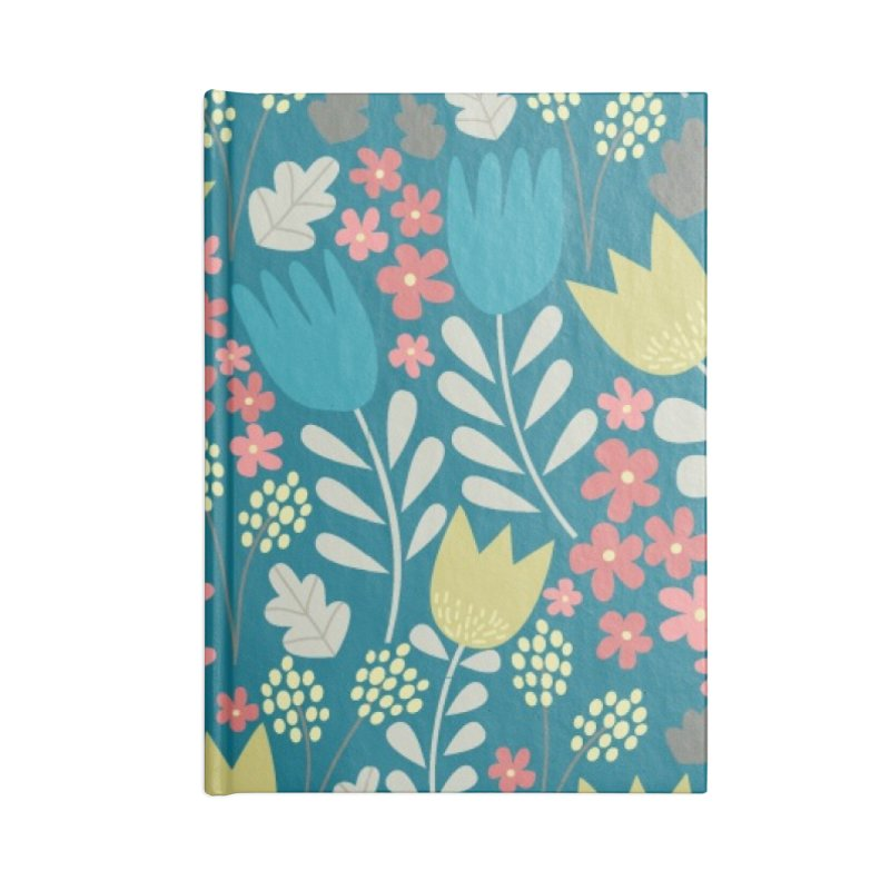 Meadow - Teal Accessories Lined Journal Notebook by prettyprismatic's Artist Shop
