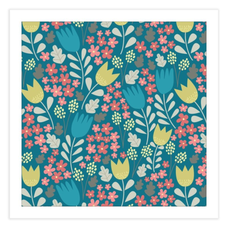 Meadow - Teal Home Fine Art Print by prettyprismatic's Artist Shop