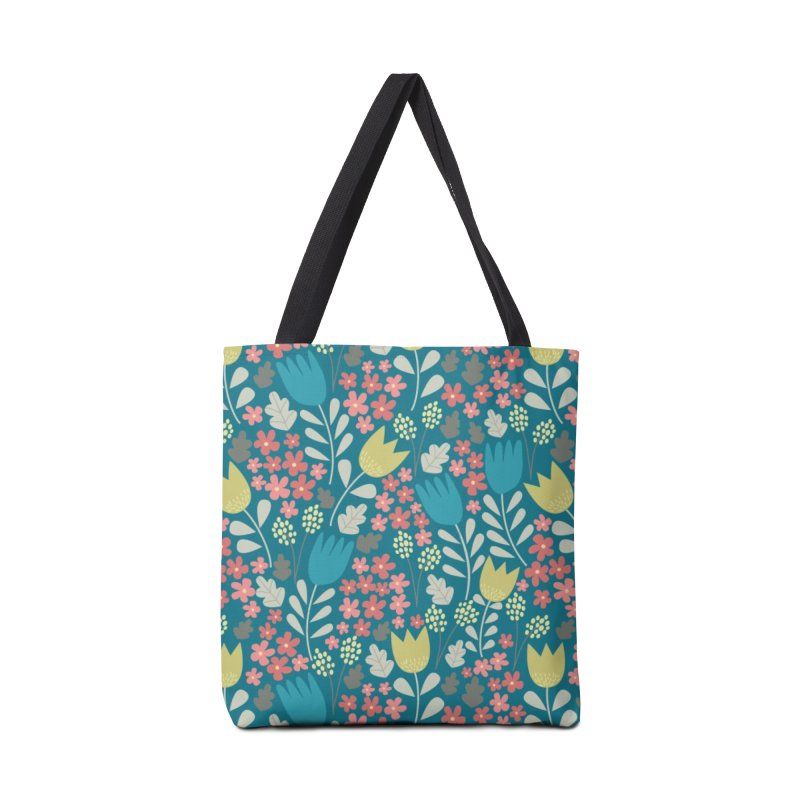 Meadow - Teal Accessories Tote Bag Bag by prettyprismatic's Artist Shop