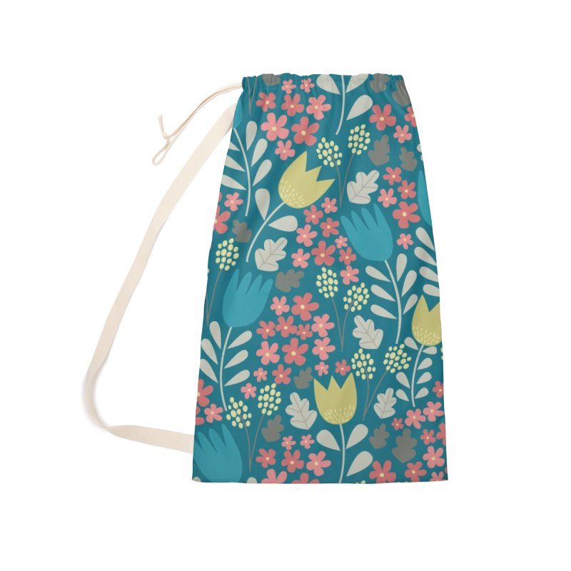Meadow - Teal Accessories Laundry Bag Bag by prettyprismatic's Artist Shop