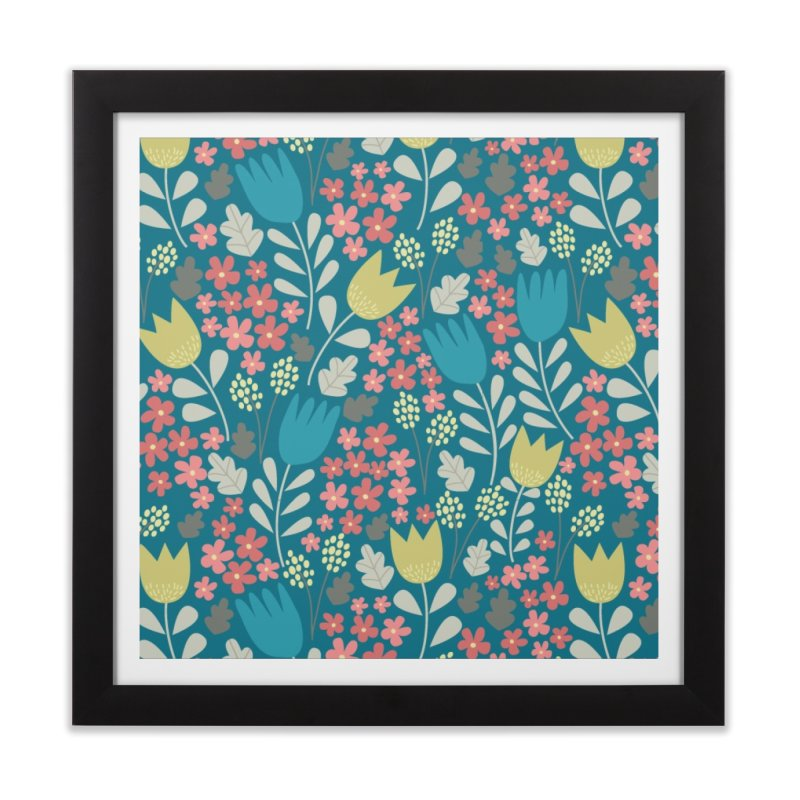 Meadow - Teal Home Framed Fine Art Print by prettyprismatic's Artist Shop