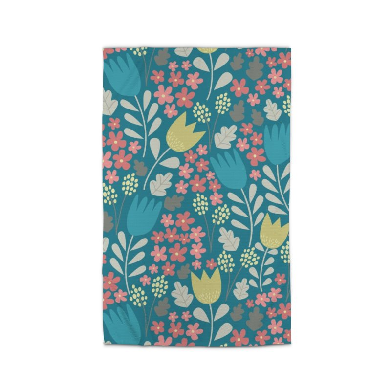 Meadow - Teal Home Rug by prettyprismatic's Artist Shop