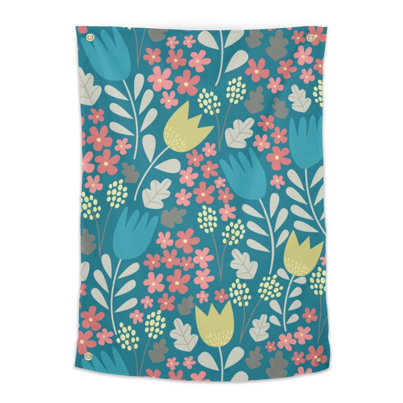 Meadow - Teal Home Tapestry by prettyprismatic's Artist Shop