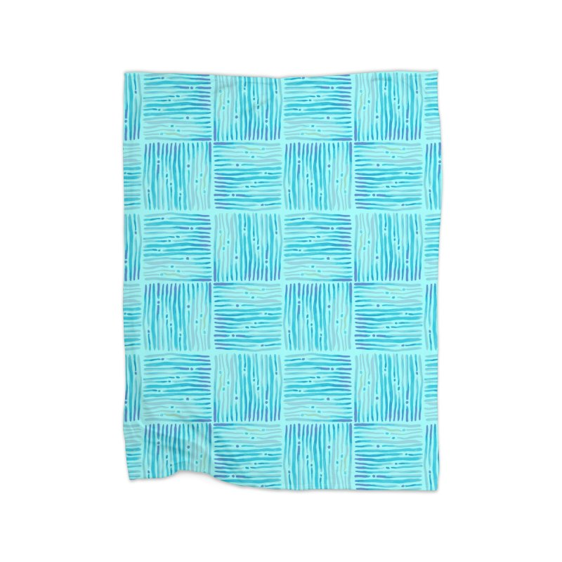 Watercolor Coastal Current Pattern Home Blanket by prettyprismatic's Artist Shop