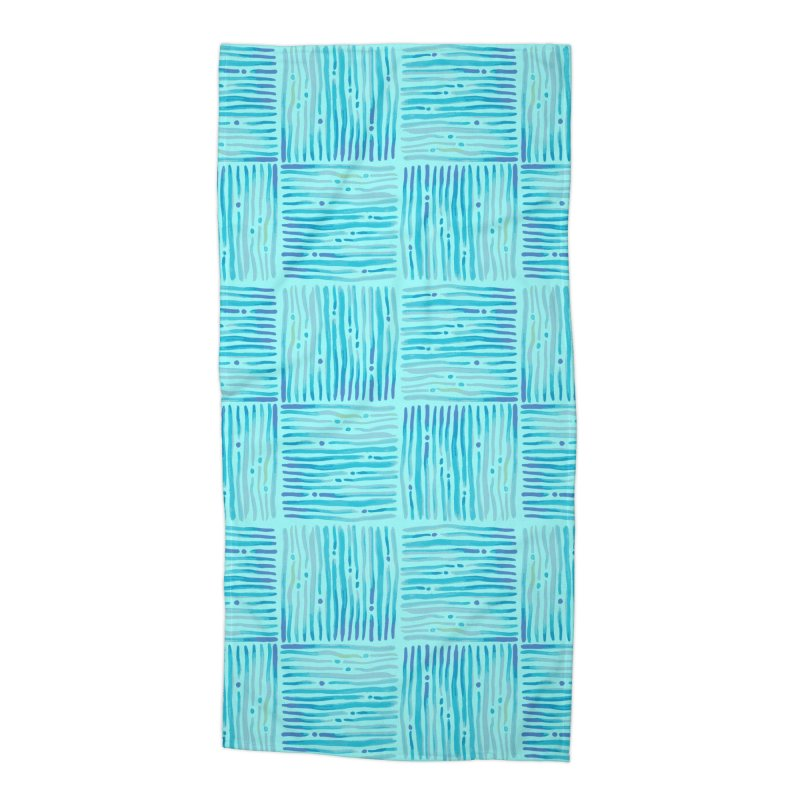 Watercolor Coastal Current Pattern Accessories Beach Towel by prettyprismatic's Artist Shop