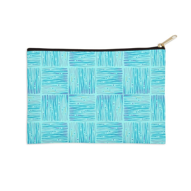 Watercolor Coastal Current Pattern Accessories Zip Pouch by prettyprismatic's Artist Shop