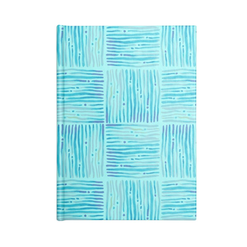 Watercolor Coastal Current Pattern Accessories Notebook by prettyprismatic's Artist Shop