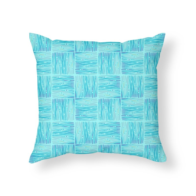 Watercolor Coastal Current Pattern Home Throw Pillow by prettyprismatic's Artist Shop