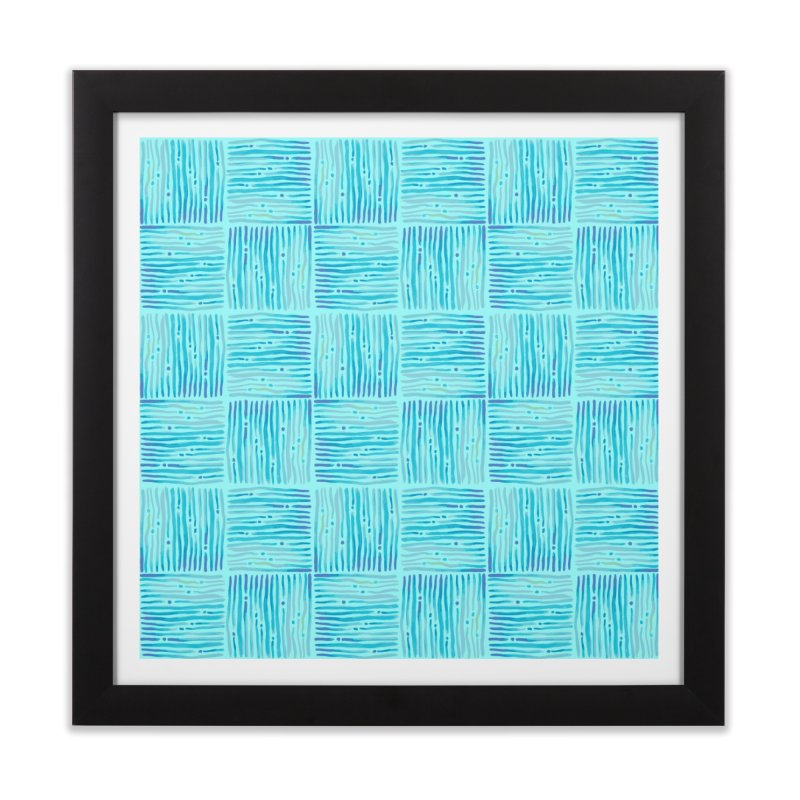 Watercolor Coastal Current Pattern Home Framed Fine Art Print by prettyprismatic's Artist Shop