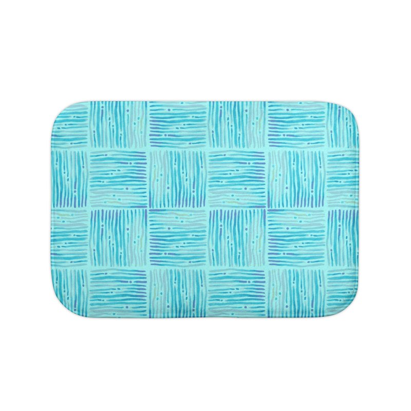 Watercolor Coastal Current Pattern Home Bath Mat by prettyprismatic's Artist Shop