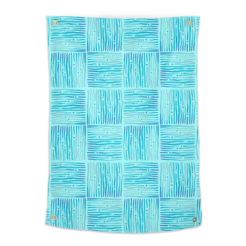 Watercolor Coastal Current Pattern Home Tapestry by prettyprismatic's Artist Shop