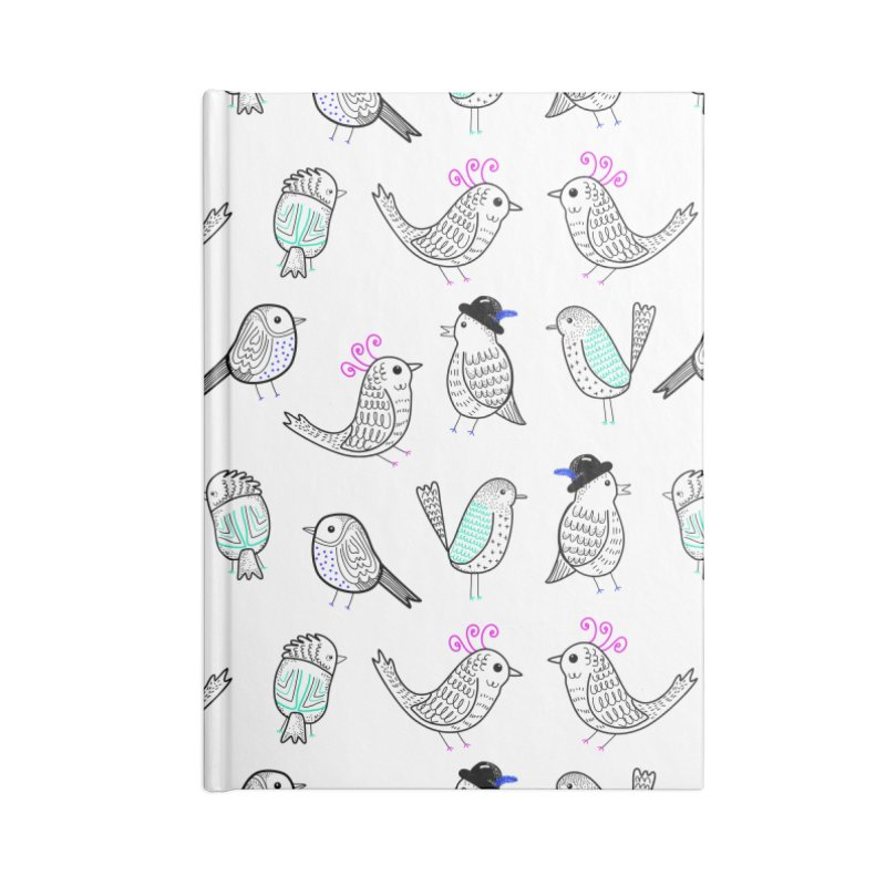 Quirky Birds Accessories Notebook by prettyprismatic's Artist Shop
