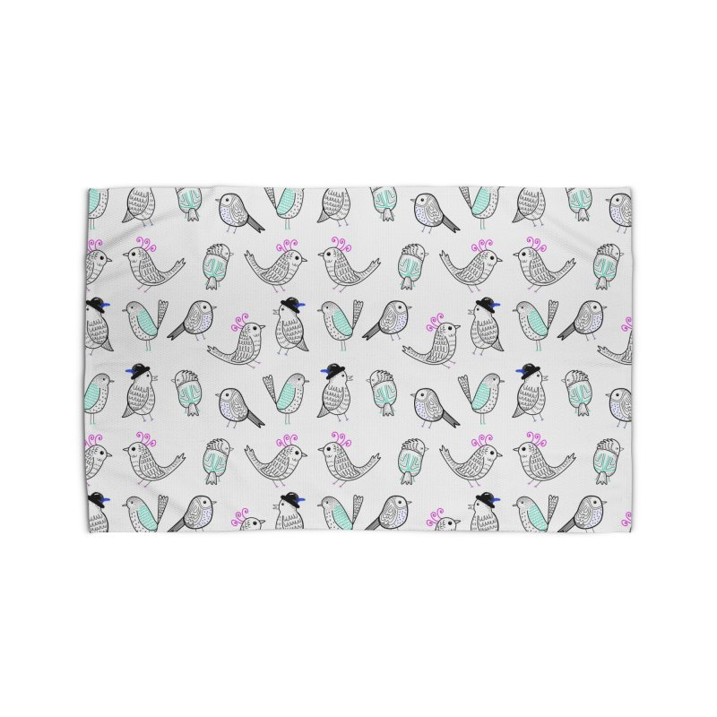 Quirky Birds Home Rug by prettyprismatic's Artist Shop