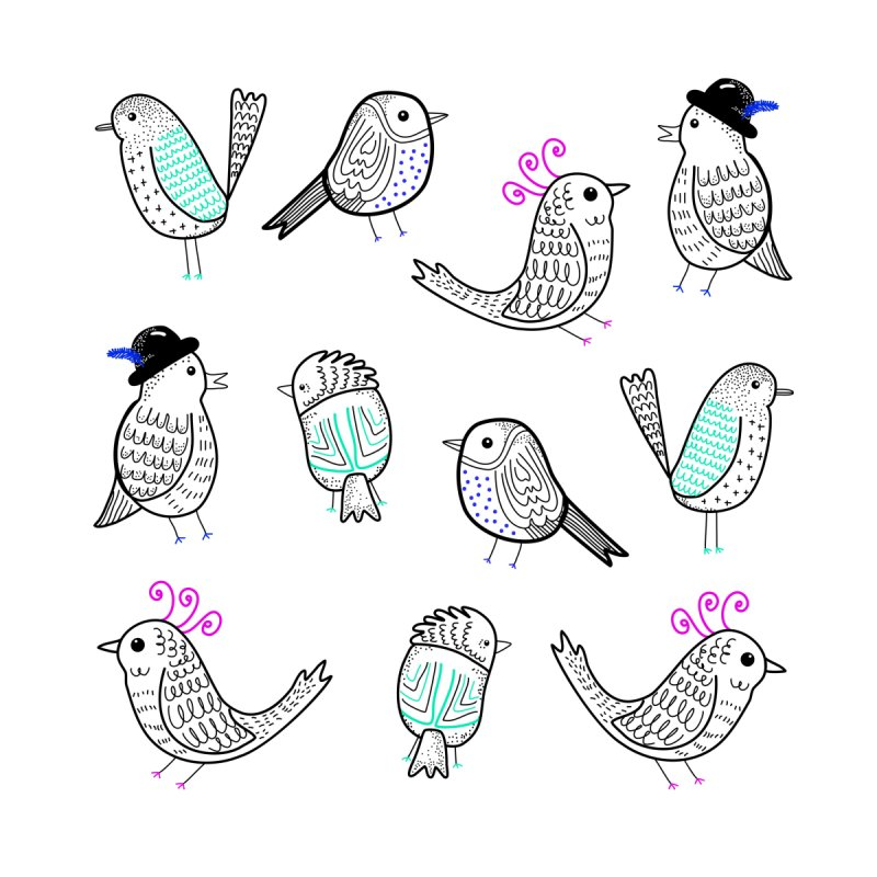 Quirky Birds by prettyprismatic's Artist Shop