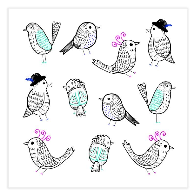 Quirky Birds Home Fine Art Print by prettyprismatic's Artist Shop