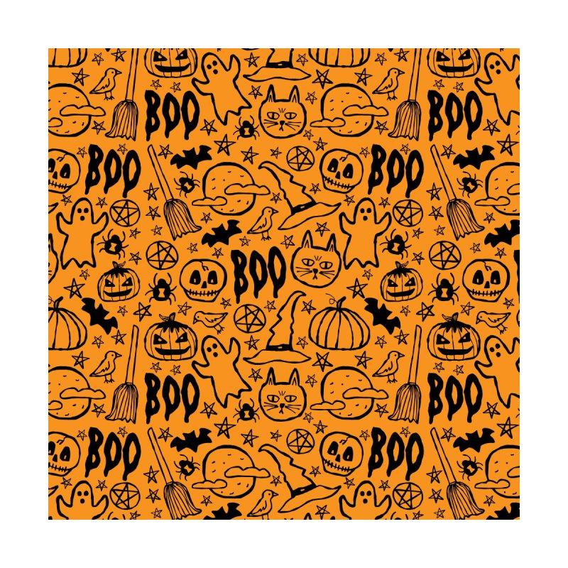 Spooky Halloween Pattern - Orange by prettyprismatic's Artist Shop