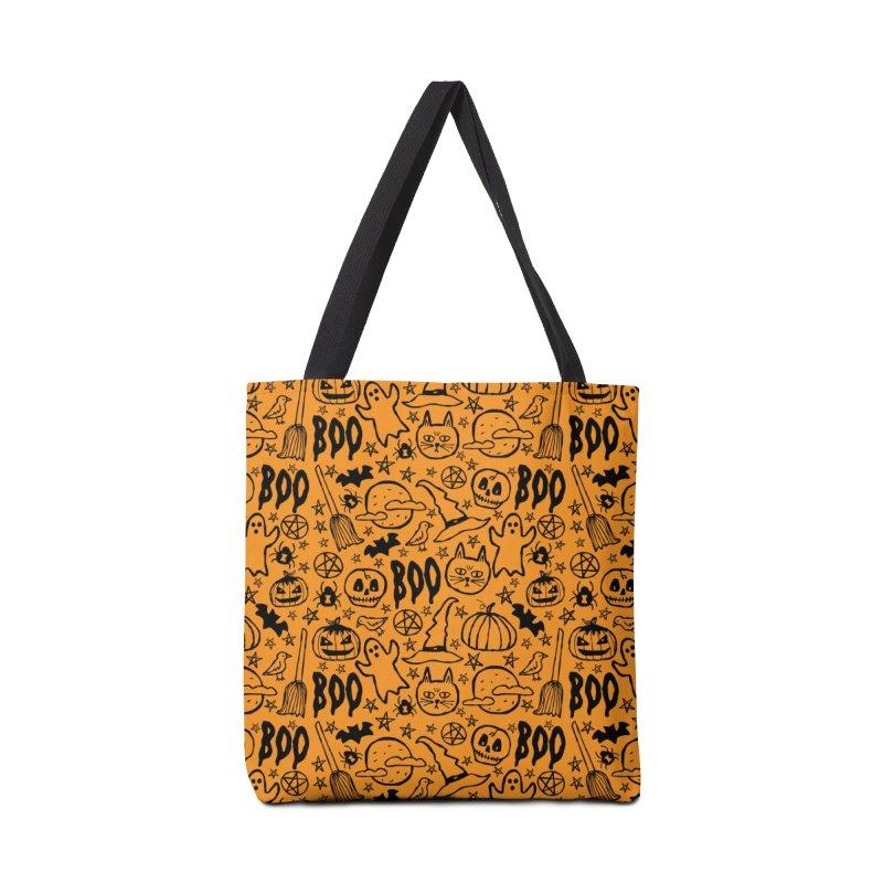 Spooky Halloween Pattern - Orange Accessories Bag by prettyprismatic's Artist Shop