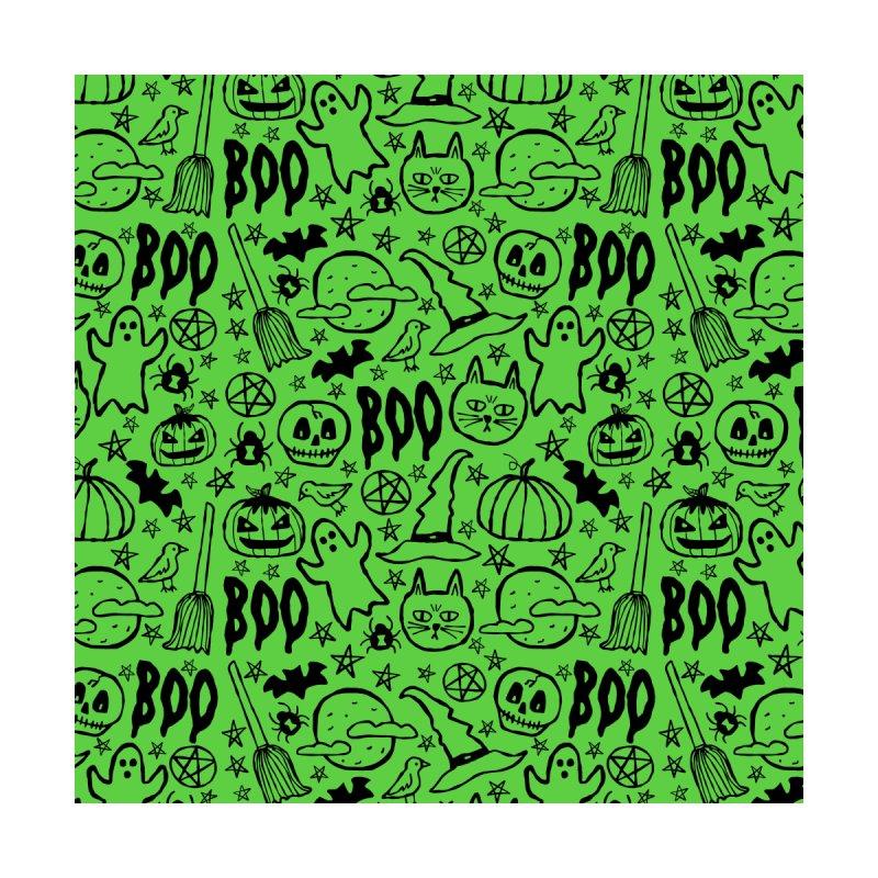 Spooky Halloween Pattern - Lime Green by prettyprismatic's Artist Shop