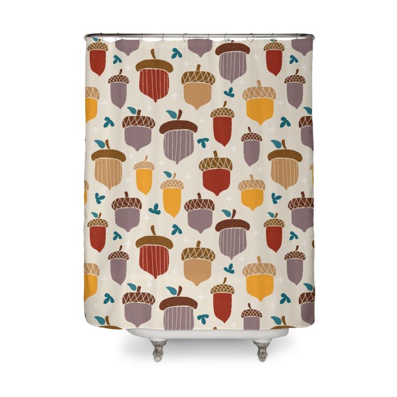 Autumn Acorns Home Shower Curtain by prettyprismatic's Artist Shop