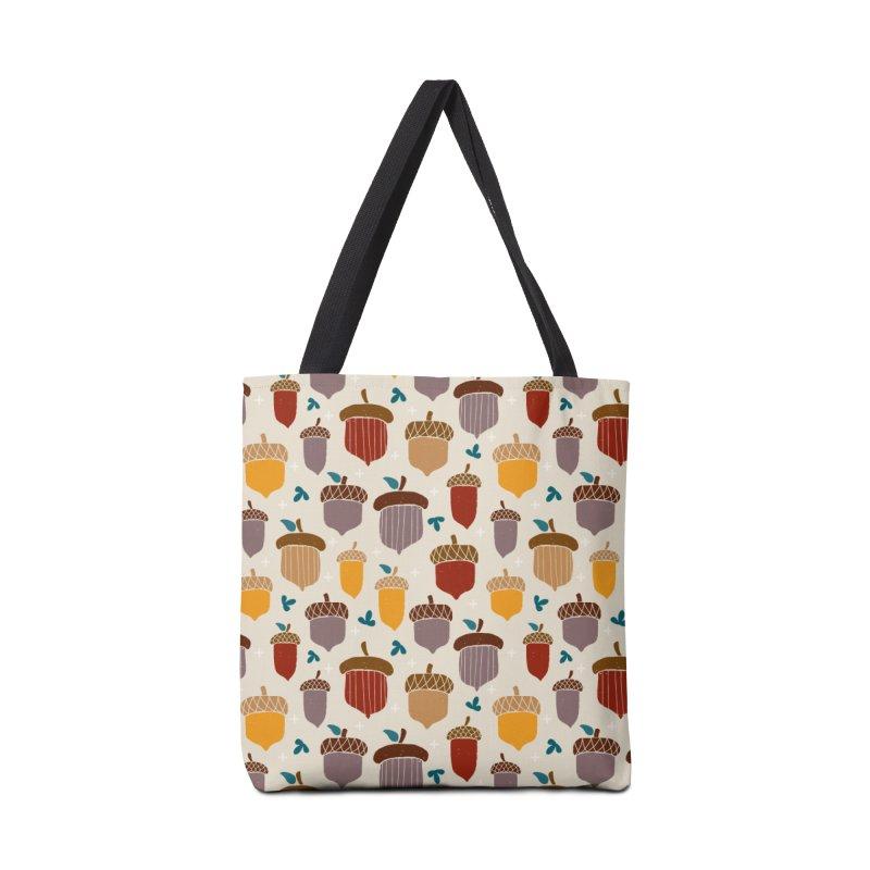 Autumn Acorns Accessories Bag by prettyprismatic's Artist Shop