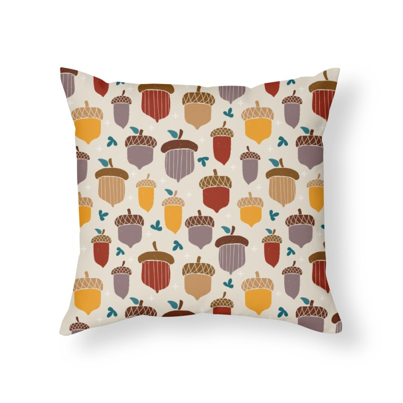 Autumn Acorns in Throw Pillow by prettyprismatic's Artist Shop