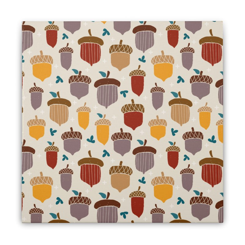 Autumn Acorns Home Stretched Canvas by prettyprismatic's Artist Shop