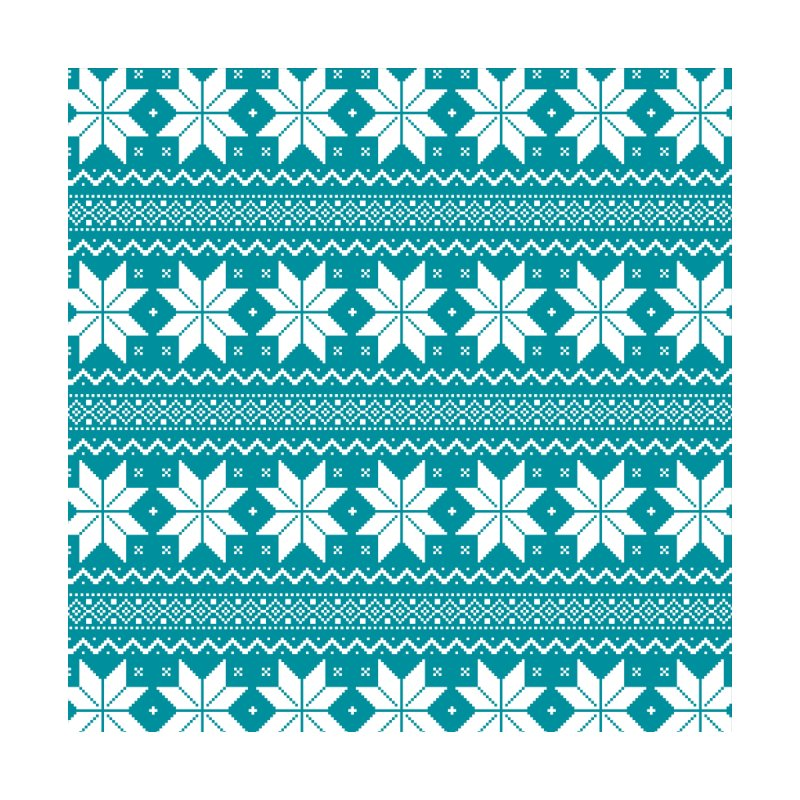 Cross Stitch Snowflakes - Teal by prettyprismatic's Artist Shop