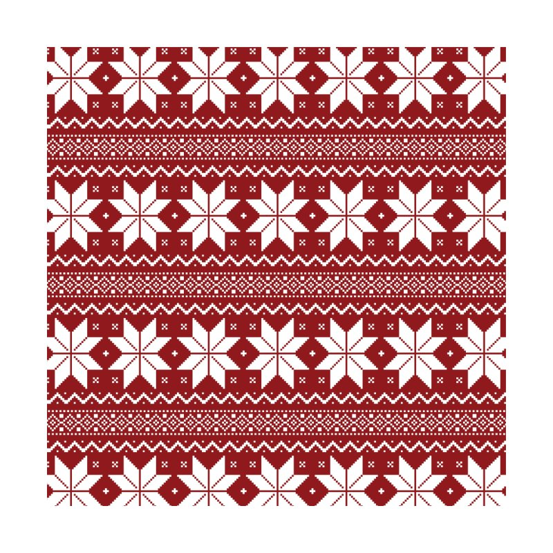 Cross Stitch Snowflakes - Classic Red by prettyprismatic's Artist Shop