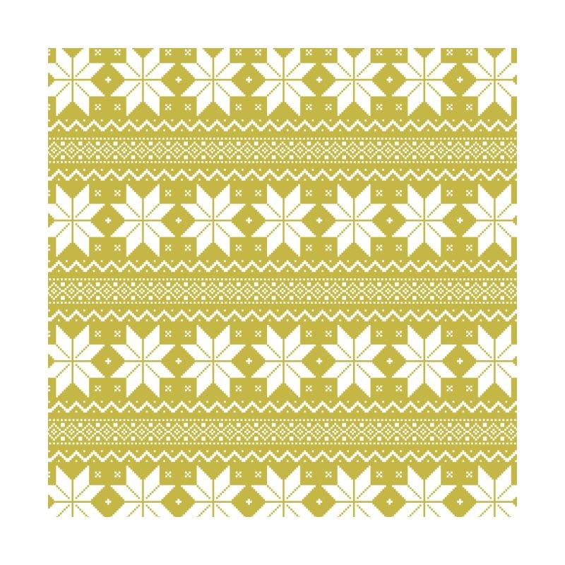 Cross Stitch Snowflakes - Chartreuse Accessories Beach Towel by prettyprismatic's Artist Shop