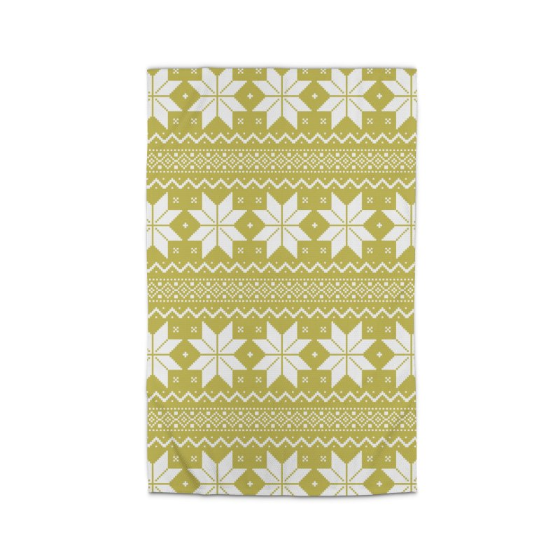 Cross Stitch Snowflakes - Chartreuse Home Rug by prettyprismatic's Artist Shop