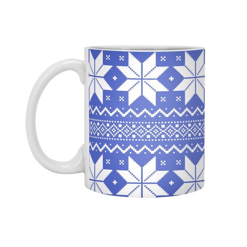 Cross Stitch Snowflakes - Periwinkle Accessories Mug by prettyprismatic's Artist Shop