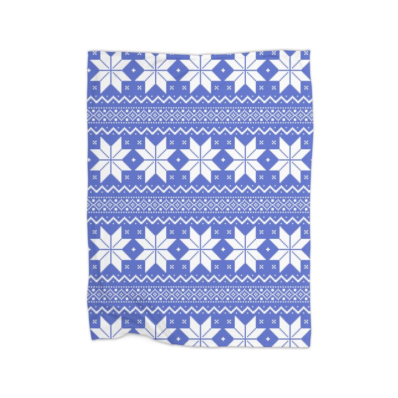 Cross Stitch Snowflakes - Periwinkle Home Blanket by prettyprismatic's Artist Shop