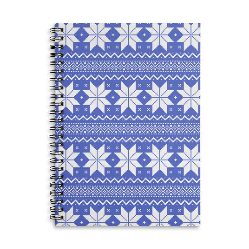 Cross Stitch Snowflakes - Periwinkle Accessories Lined Spiral Notebook by prettyprismatic's Artist Shop