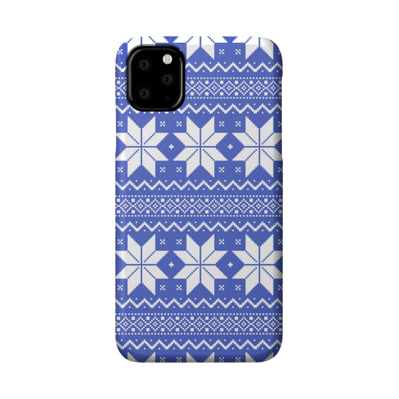 Cross Stitch Snowflakes - Periwinkle Accessories Phone Case by prettyprismatic's Artist Shop