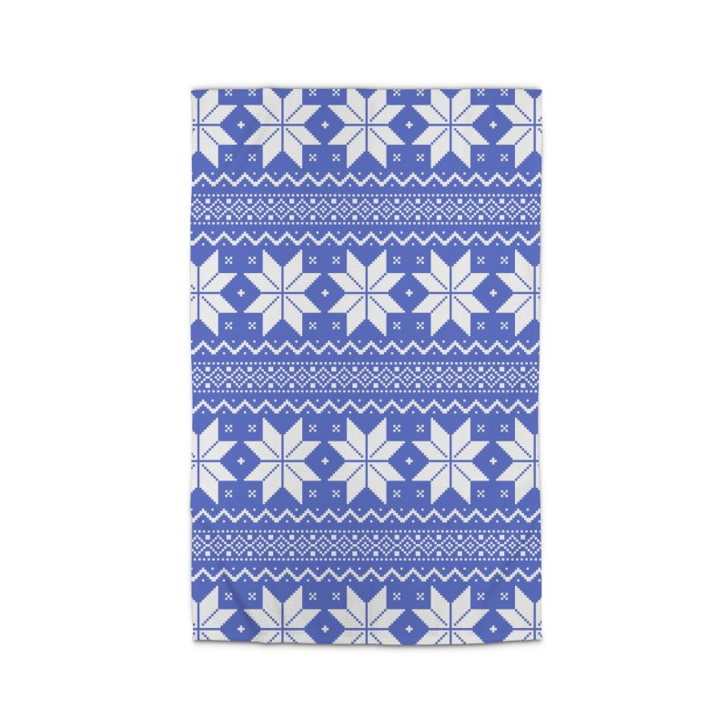 Cross Stitch Snowflakes - Periwinkle Home Rug by prettyprismatic's Artist Shop