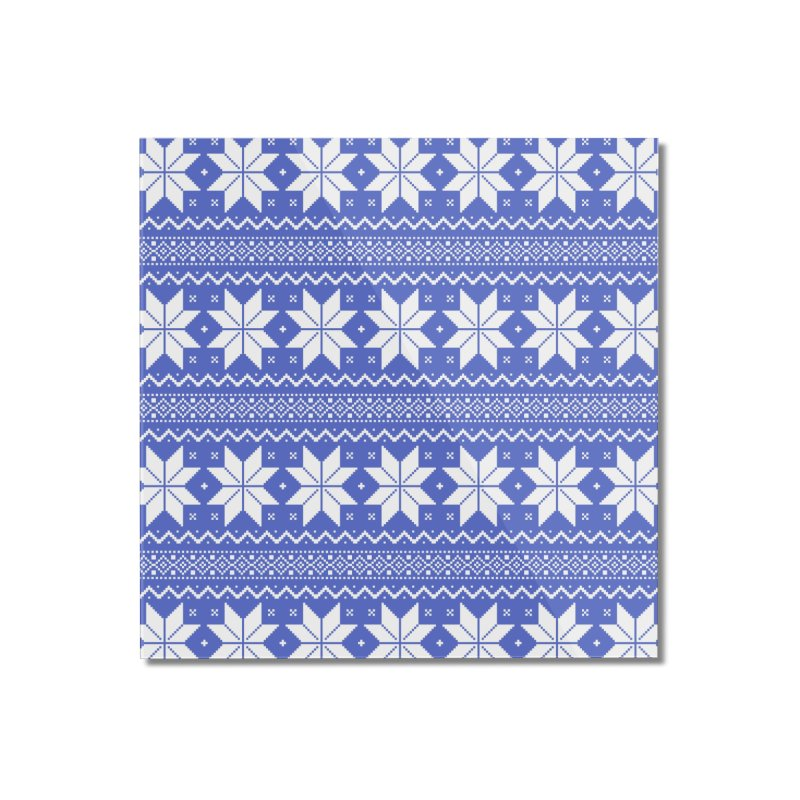 Cross Stitch Snowflakes - Periwinkle Home Mounted Acrylic Print by prettyprismatic's Artist Shop
