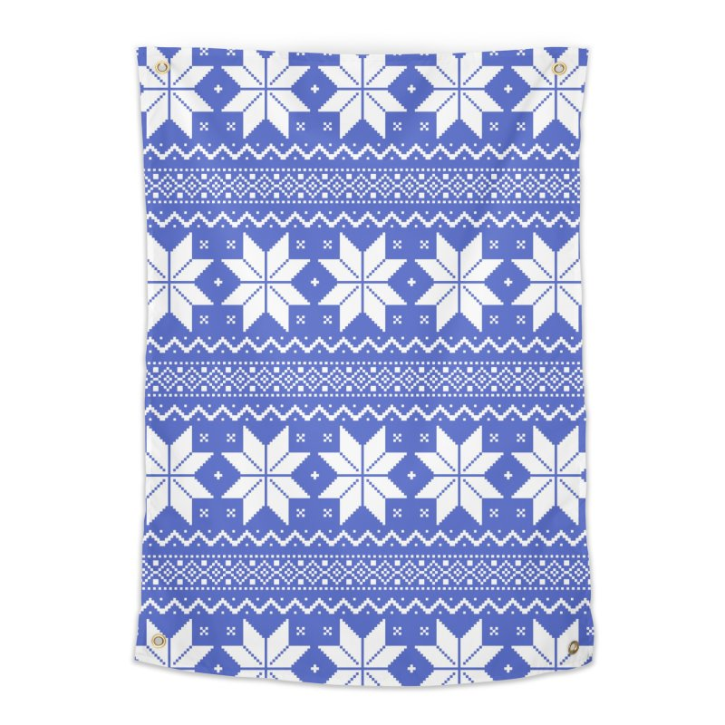 Cross Stitch Snowflakes - Periwinkle Home Tapestry by prettyprismatic's Artist Shop