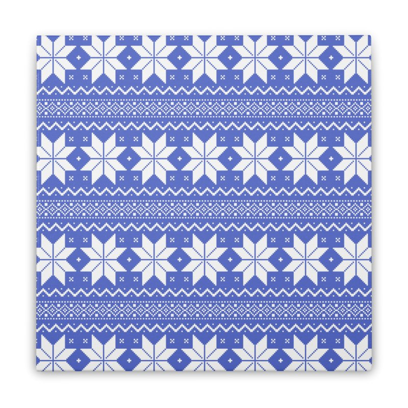 Cross Stitch Snowflakes - Periwinkle Home Stretched Canvas by prettyprismatic's Artist Shop