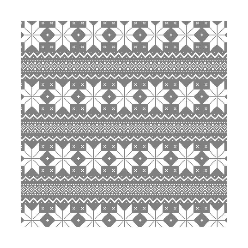 Cross Stitch Snowflakes - Wintery Gray by prettyprismatic's Artist Shop