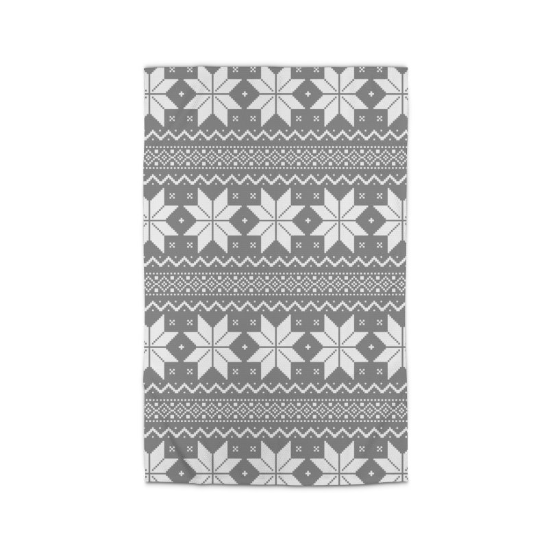 Cross Stitch Snowflakes - Wintery Gray Home Rug by prettyprismatic's Artist Shop