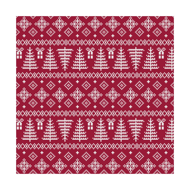 Christmas Sweater Tree Pattern - Classic Red by prettyprismatic's Artist Shop