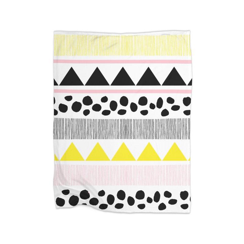 Vibrant Modern Bohemian Home Fleece Blanket Blanket by prettyprismatic's Artist Shop