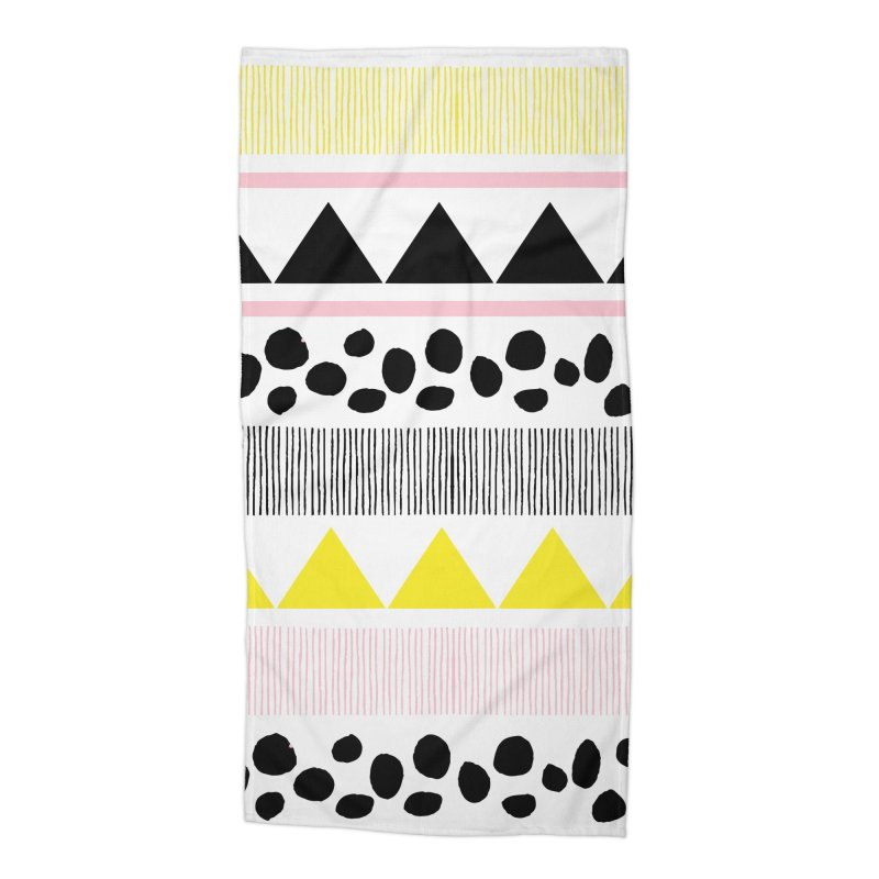 Vibrant Modern Bohemian Accessories Beach Towel by prettyprismatic's Artist Shop