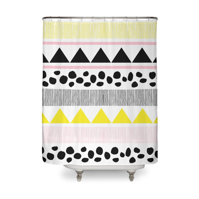 Vibrant Modern Bohemian Home Shower Curtain by prettyprismatic's Artist Shop