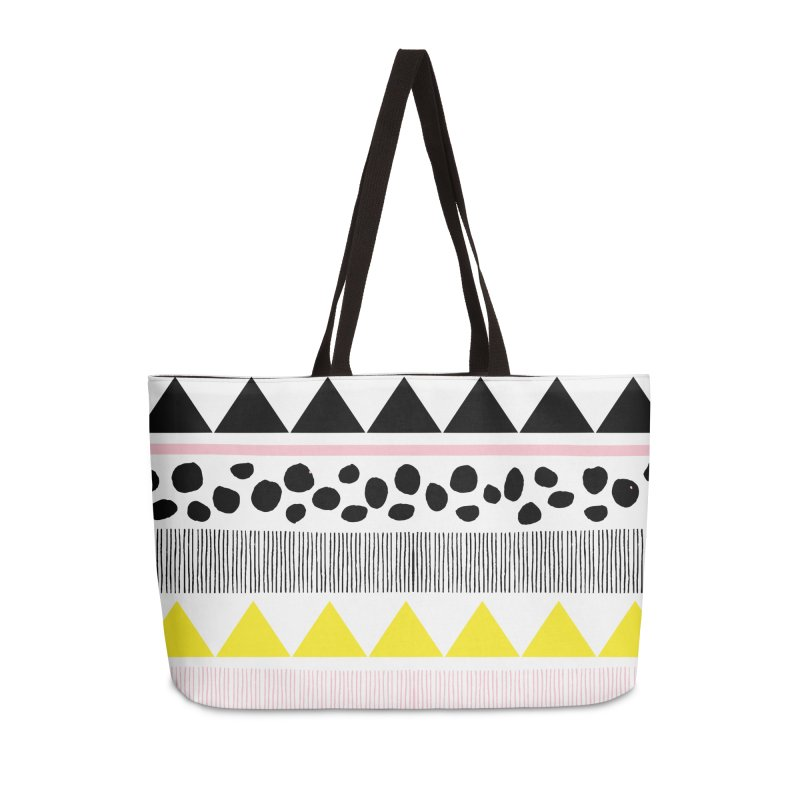 Vibrant Modern Bohemian Accessories Weekender Bag Bag by prettyprismatic's Artist Shop