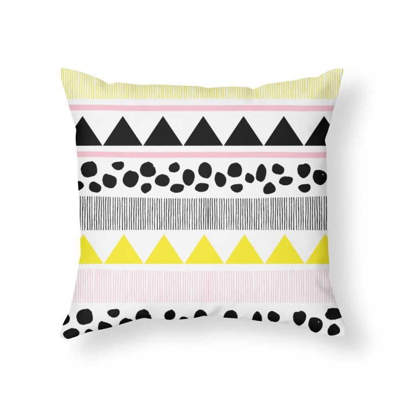 Vibrant Modern Bohemian Home Throw Pillow by prettyprismatic's Artist Shop